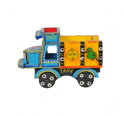 Craft & Culture Wooden Truck Handpainted S Assorted Wooden Toy for Kids age 3Y+