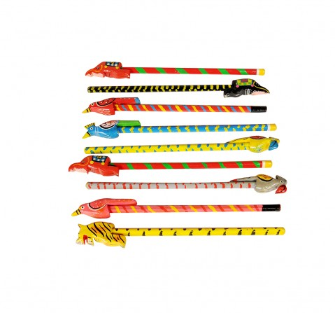 Craft & Culture Wooden Pencil Set Of 5 Assorted Toy for Kids age 3Y+