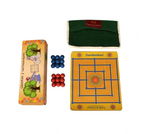 Craft & Culture Traditional Game Of India - Chowka Bara for Kids age 6Y+ - 1 Cm