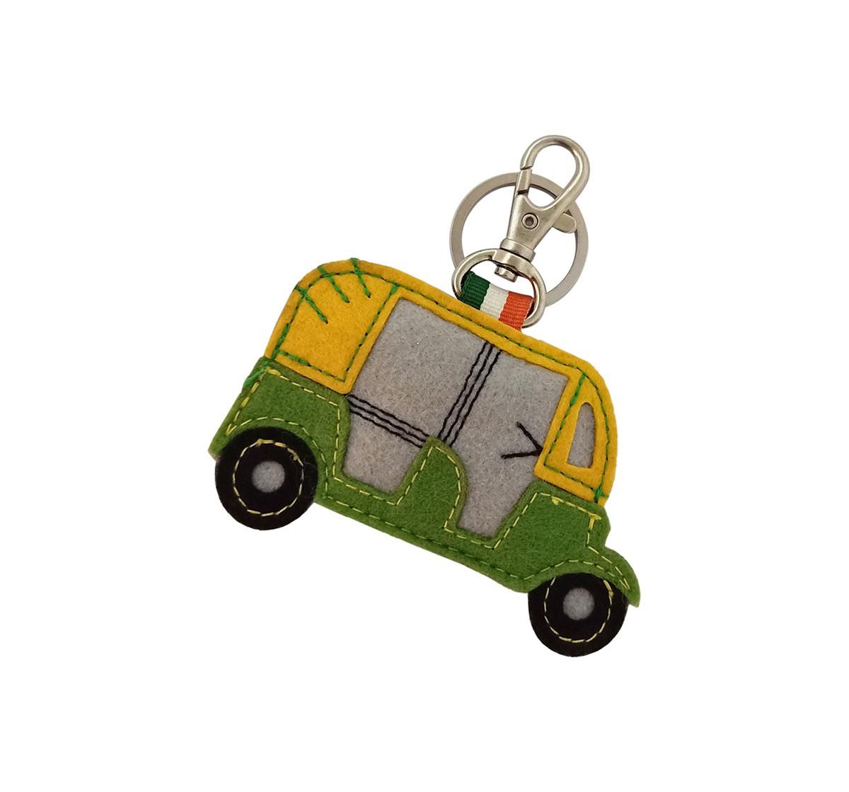 Vibrant India VI Auto Felt Keychain for Kids age 3Y+