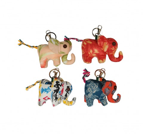 Vibrant India VI Elephant Soft Toy Keychain for Kids age 3Y+