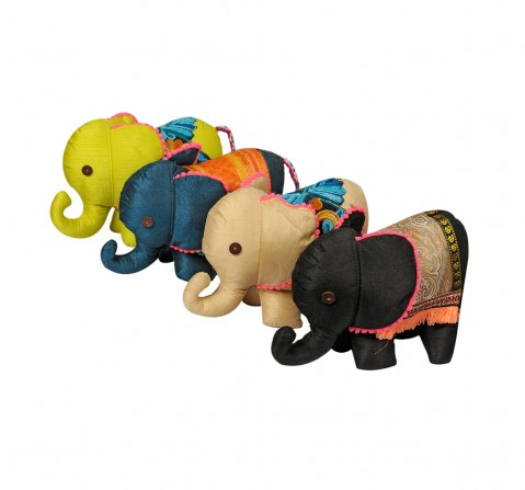Vibrant India VI Elephant Soft Toy M for Kids age 3Y+ - 14 Cm