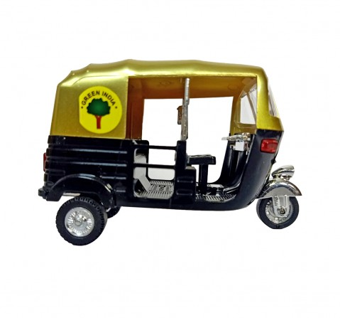 Vibrant India VI Mini Auto Rickshaw Metallic for Kids age 3Y+ (Black)