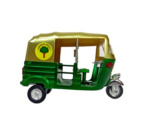 Vibrant India VI Mini Auto Rickshaw Metallic for Kids age 3Y+ (Green)