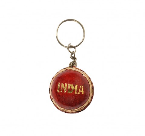 Vibrant India VI Cricket Ball Key Chain for Kids age 3Y+ (Red)
