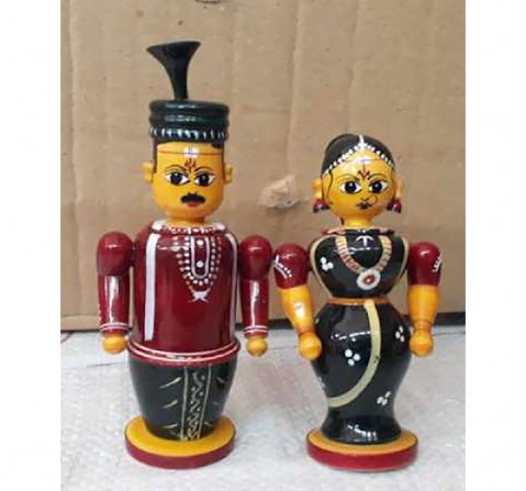 Folktales Handmade Couple Set Wooden Toys for Kids age 3Y+