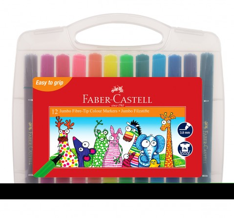 Faber-Castell  jumbo fibretip marker set 12 , 4Y+