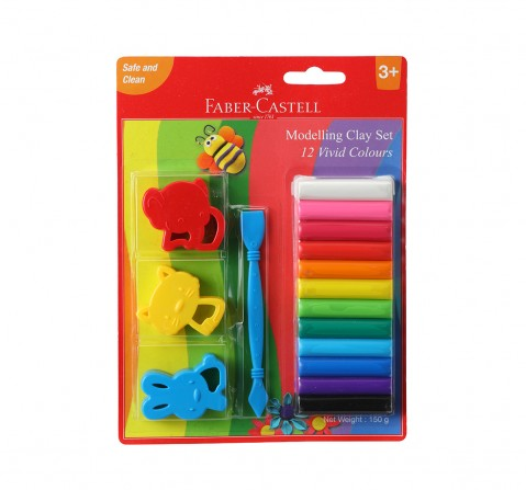 Faber-Castell  model clay 150g 12 blister, 3Y+