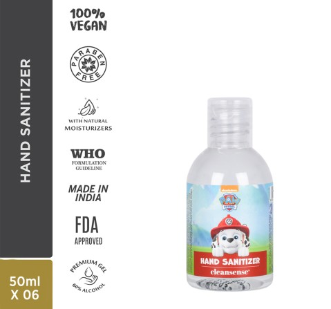 Cleansense Paw Patrol Gel Hand Sanitizers 50Ml, Unisex, 2Y+
