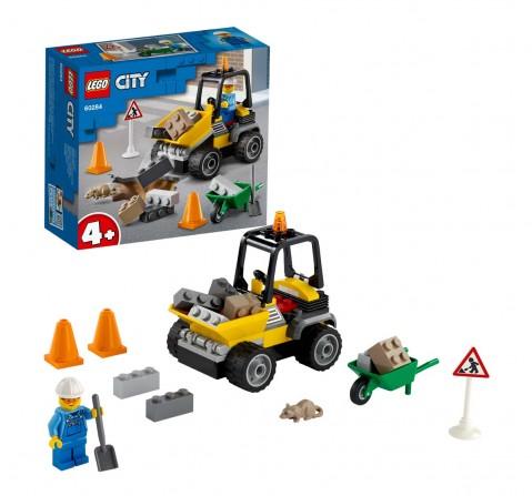 Lego Roadwork Truck Lego Blocks for Kids Age 4Y+