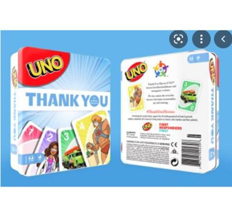 Mattel Games UNO Thank You Heroes, Unisex, 7Y+ (Multicolor)
