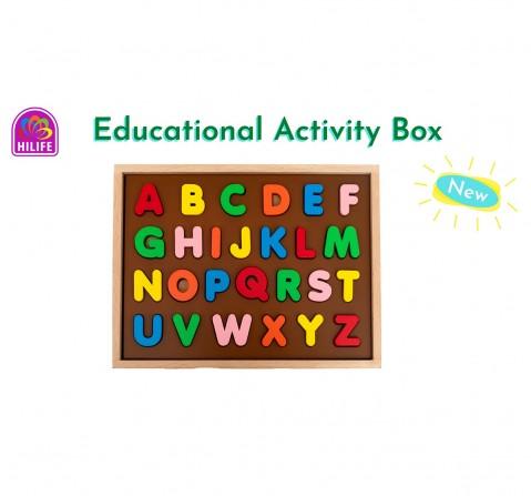 Hilife English Alphabet Puzzle 3 Layers Uppercase, Unisex, 3Y+ (Multicolor)