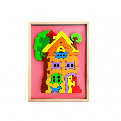 Hilife House 3D Shape 2 Layer Puzzle, Unisex, 3Y+ (Multicolor)
