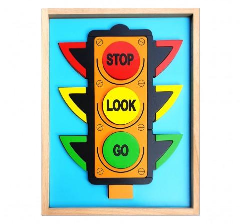 Hilife Traffic Light 3D Shape 2 Layer Puzzle, Unisex, 3Y+ (Multicolor)