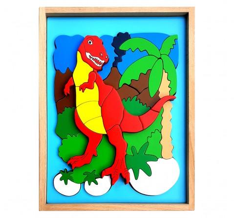 Hilife Dinosaur 3D Shape 2 Layer Puzzle, Unisex, 3Y+ (Multicolor)