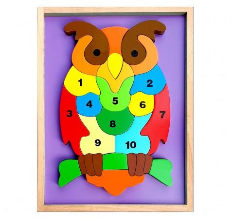 Hilife Owl 3D Shape 2 Layer Puzzle, Unisex, 3Y+ (Multicolor)