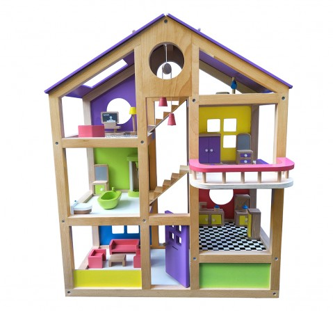 Hilife Furnished Doll House, Unisex, 3Y+ (Multicolor)