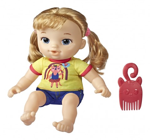 Littles by Baby Alive, Littles Squad, Little Astrid, Brown Hair, 9-inch Take-Along Toddler Doll with Comb, Toy for Kids Ages 3Y+
