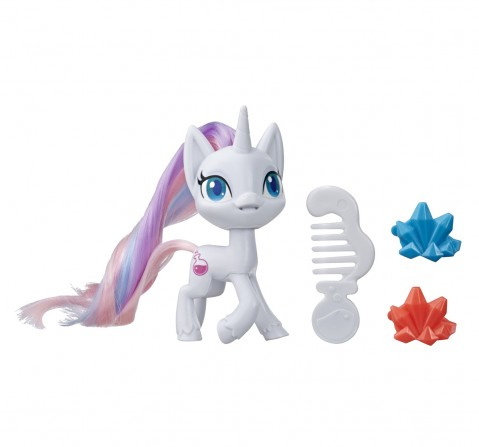 My Little Pony Applejack Potion Pony Figure-3-Inch Orange Pony Toy with Brushable Hair, Comb, and 4 Surprise Accessories for Girls age 3Y+
