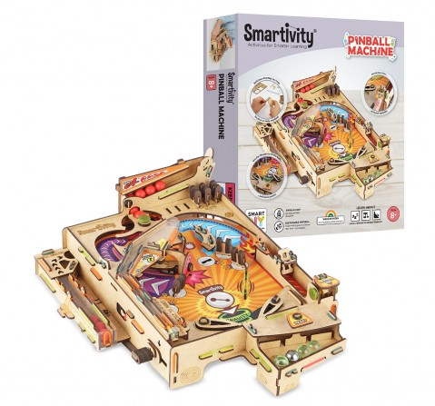 Smartivity Pinball STEM Educational DIY Building Activity Toy Kit, Easy Instructions, Experiment, Play, Learn Science Project With Scoring System for Kids age 7Y+