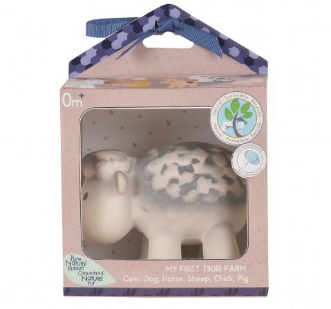 Tikiri Toys SheepNatural Rubber Rattle & Bath Toy, 0M+ (Multicolor)