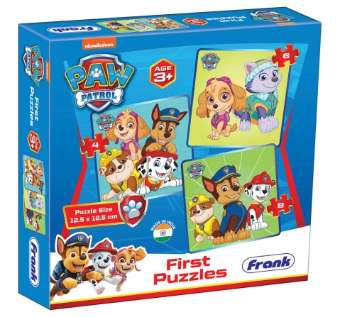 Paw Patrol First Puzzles 3 in 1, 3Y+