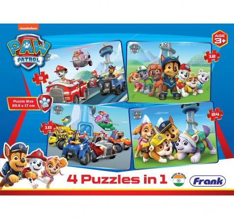 Paw Patrol 4 in 1 Puzzle, 3Y+