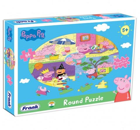Peppa Pig Round Puzzle 66 pcs, 5Y+