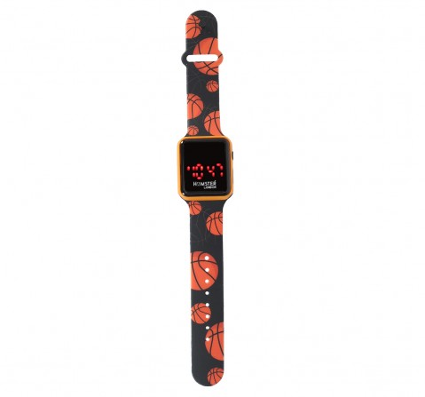 Hamster London Mirror Face Slicone Band Digital Watch Basketball Yellow, 5Y+