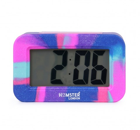 Hamster London Digital Silicon Alarm Clock Pink, 6Y+