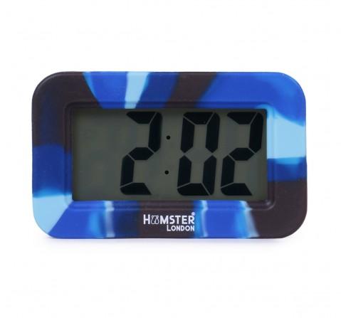 Hamster London Digital Silicon Alarm Clock Blue, 6Y+