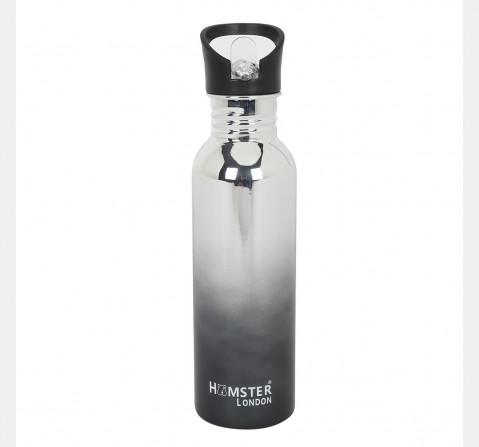 Hamster London Large Sipper Metal Bottle Black, 6Y+