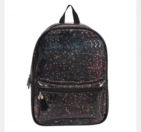 Hamster London Glitter Black Backpack, 6Y+
