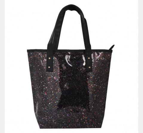 Hamster London Glitter Tote Bag Black, 6Y+