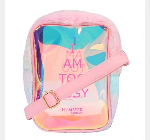 Hamster London Too Busy Fur Sling Bag Pink, 8Y+