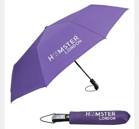 Hamster London Auto Open & Close Umbrella Purple, 8Y+