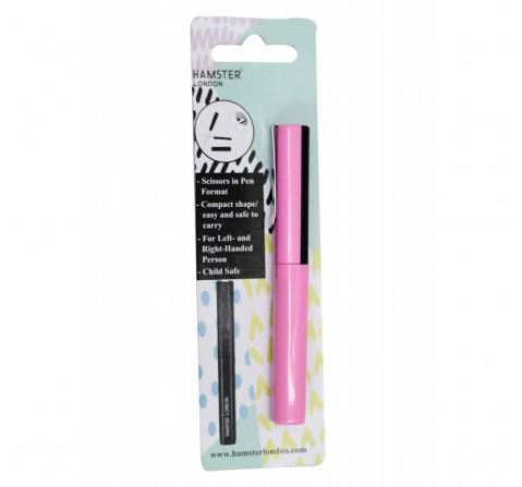 Hamster London Pen Shape Scissor Pink, 6Y+