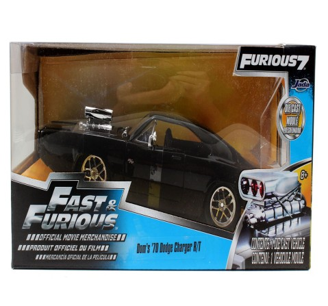 Jada Fast & Furious 1:24 - 1970 Dodge Charger (Street), Unisex, 8Y+ (Black)