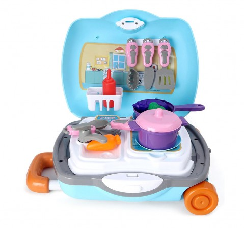 Peppa Kitchen Set with Trolley for Girls age 3Y+