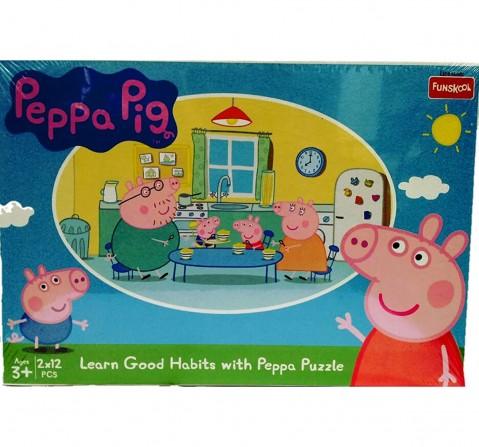 Funskool Peppa Pig Good Habits 2In1 Puzzle, 2Y+ (Multicolor)