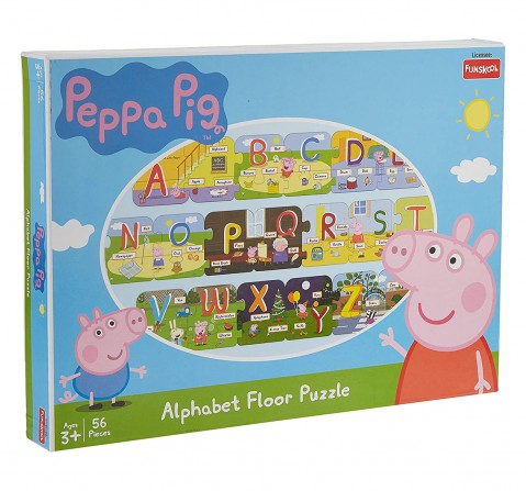 Funskool Peppa Pig Alphabet Floor Puzzle, 2Y+ (Multicolor)