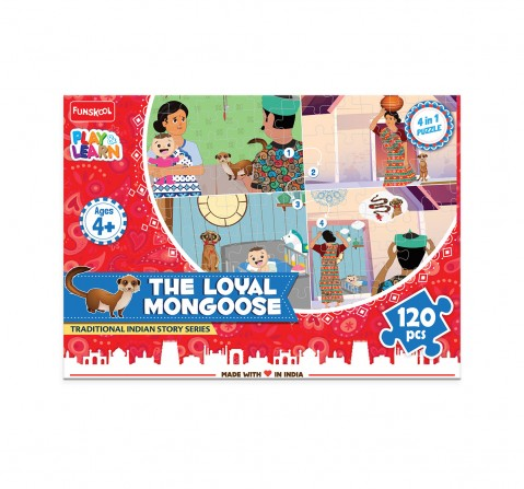 Play & Learn The Loyal Mongoose 120 Pcs, 2Y+ (Multicolor)