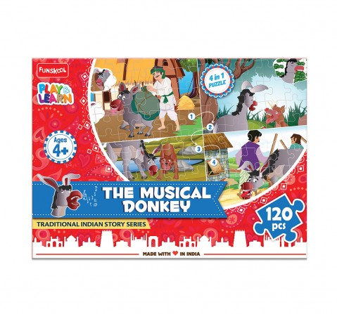 Play & Learn The Musical Donkey 120 Pcs, 2Y+ (Multicolor)