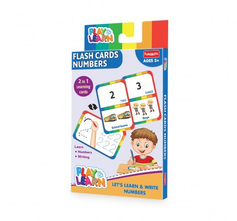 Play & Learn Flash Cards Numbers - Let'S Learn And Write Numbers, 2Y+ (Multicolor)