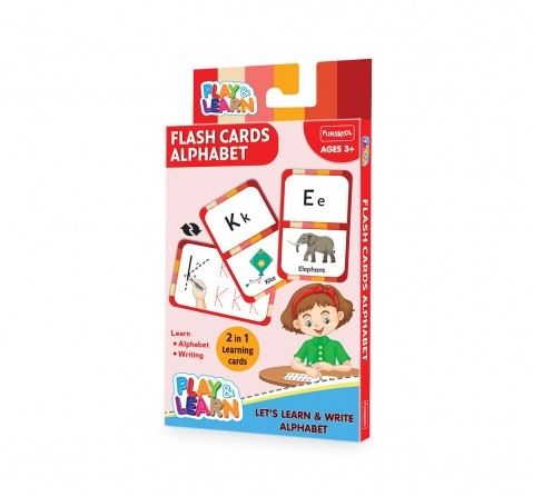 Play & Learn Flash Cards Alphabet - Let'S Learn And Write Alphabets, 2Y+ (Multicolor)