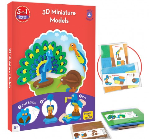 Imagimake 5-In-1 Awesome Craft Kit, 4Y+ (Multicolor)