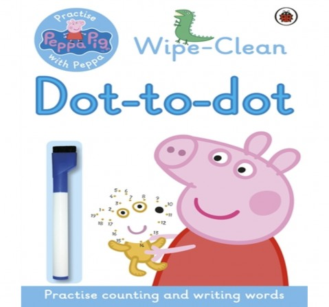 Peppa : Wipe: clean Dot: to: Dot, 16 Pages Book by Ladybird, Paperback