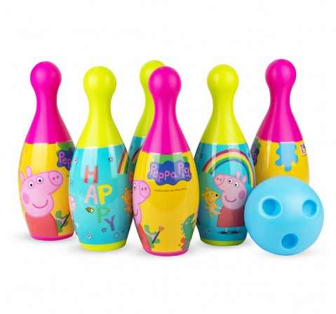 IToys Peppa pig bowling set for kids, Unisex, 3Y+(Multicolour)