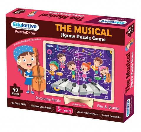 Eduketive PuzzleDecor The Musical Decorative 40 Pieces Jigsaw Puzzle with Stand Kids Age 3-9 Years Preschool