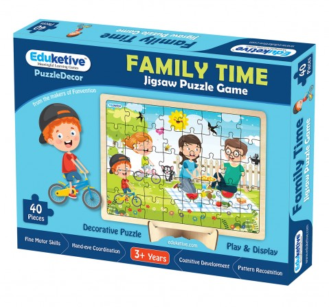 Eduketive PuzzleDecor The Family Decorative 40 Pieces Jigsaw Puzzle with Stand Kids Age 3-9 Years Preschool